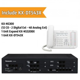 Panasonic KX-NS300BX PABX System (12 CO - 2 Digital Extension - 48 Analog Ext)