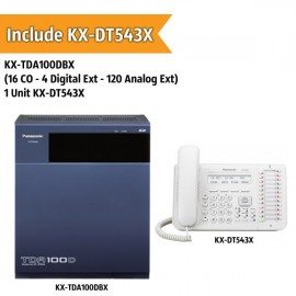 Panasonic KX-TDA100DBX PABX System (16 CO - 4 Digital Extension - 120 Analog Ext)
