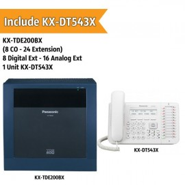 Panasonic KX-TDE200BX PABX System (8 CO - 24 Extension)