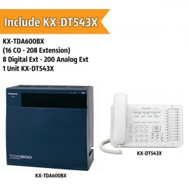Panasonic KX-TDA600BX PABX System (16 CO - 200 Extension)