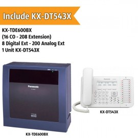 Panasonic KX-TDE600BX PABX System (16 CO - 208 Extension)