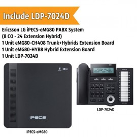 Ericsson LG iPECS-eMG80 PABX System (8 CO - 24 Extension)