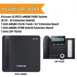 Ericsson LG iPECS-eMG80 PABX System (8 CO - 32 Extension)