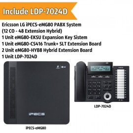 Ericsson LG iPECS-eMG80 PABX System (12 CO - 48 Extension)