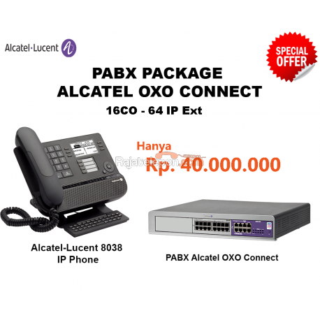 Alcatel-Lucent OXO Connect PABX System (16CO - 64 IP Ext)