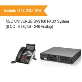 NEC SV9100 PABX System (8 CO - 8 Digital Extension - 240 Analog Extension)